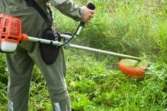 скашивание травы Стоковая Фотография RF