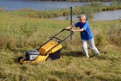 скашивание травы Стоковое Фото