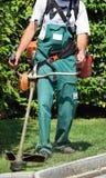 скашивание травы Стоковое Изображение