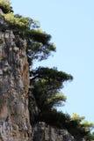 Скала в Хорватии, острове Vis - Stiniva Стоковое фото RF
