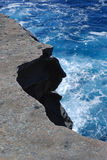 Скала залива Уотсона в Сиднее стоковая фотография