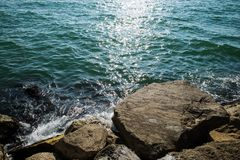 Скала моря Стоковое Изображение RF