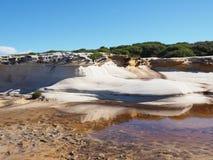 Скала утеса песка в Австралии Стоковая Фотография RF