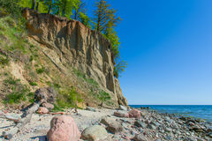 Скала Orlowo на Балтийском море, Польше Стоковое Фото