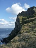 Скала Overtowering 30 метров высоких стоковое фото rf