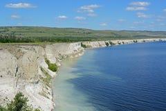 Скала Stephan Razin на Реке Волга Стоковое Изображение