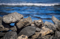 Скалистая вулканическая береговая линия Фуэртевентуры Стоковые Фотографии RF