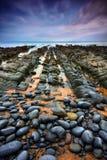 Скалистая дорога к нигде Стоковое фото RF