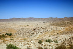 Скалистая пустыня в Тунисе Стоковая Фотография