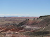 Скалистая скала в покрашенной пустыне Стоковое фото RF