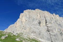 Скалистая стена Альпов доломита Стоковые Фото