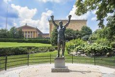Скалистое бальбоа, статуя Sylvester Stallone Стоковое Изображение RF