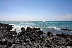 Скалистое море Coast#5: Остров Masirah, Оман Стоковые Фотографии RF
