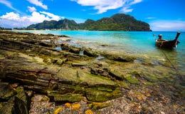 Скалистое тропическое Стоковые Фото