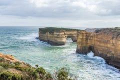 Скалистое юговосточное побережье Австралии Стоковое Изображение