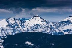 Скалистые горные виды Стоковая Фотография