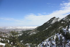 Скалистые горы в зиме Стоковая Фотография