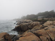 Скалистые пляжи в Мейне Стоковая Фотография RF