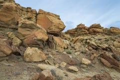 Скалистый ландшафт в пустыне Стоковая Фотография