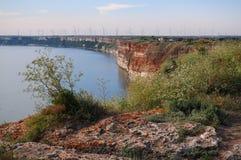 Скалистый берег около накидки Kaliakra, Болгарии стоковое изображение rf