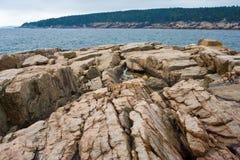 Скалистый берег Стоковые Изображения