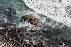 Скалистый бечевник Калифорнии Стоковые Фотографии RF