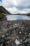 Скалистый высокогорный бечевник Стоковое Фото