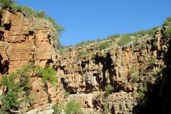 Скалистый каньон реки Стоковое Фото