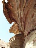 Скалистый край на Petra Стоковая Фотография