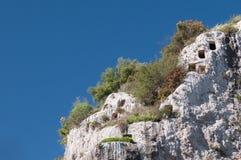 Скалистый некрополь Стоковое Изображение RF