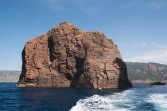 Скалистый остров природного парка Scandola стоковая фотография