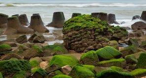 Скалистый прибрежный выход на поверхность Стоковое Изображение