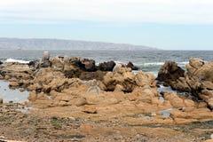 Скалистый пляж в Vina Del Mar Стоковые Изображения RF