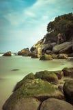 Скалистый пляж Стоковое Фото