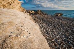 Скалистый пляж Pissouri Стоковое Изображение RF