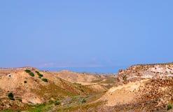 Скалистый холм над морем Стоковая Фотография RF