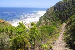 Скалистый холм океаном Стоковая Фотография RF