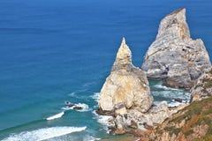 2 скалы белого песчаника Стоковое Изображение