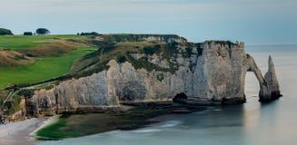Скалы верхней Нормандии Стоковые Фотографии RF