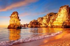 Скалы в Португалии Стоковые Фото