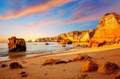 Скалы в Португалии Стоковая Фотография RF