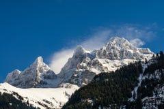 Скалы горы Snowy Стоковые Фотографии RF