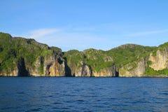Скалы Дон Phi Phi Koh - Krabi - Таиланд Стоковые Изображения RF