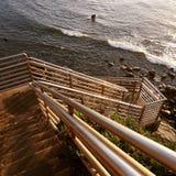 Скалы захода солнца Стоковые Фотографии RF