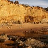 Скалы захода солнца Стоковое Изображение