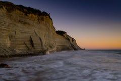 Скалы захода солнца Стоковое Изображение RF