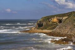 Скалы залива бухты, Hopeman Стоковое Изображение