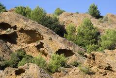 Скалы известняка Стоковая Фотография