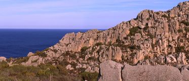 Скалы и береговая линия Стоковое фото RF