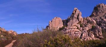 Скалы и береговая линия Стоковые Изображения